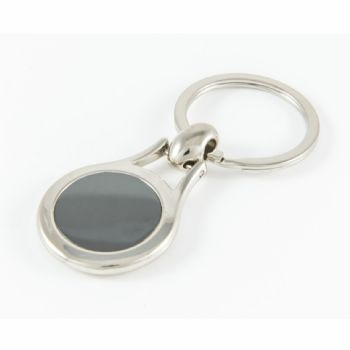 Keyring Blank Pear 23.5mm (boxed) and clear dome
